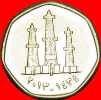 + CANADA: UNITED ARAB EMIRATES ★ 50 FILS 1434-2013 MINT LUSTER! LOW START ★ NO RESERVE! - Emirats Arabes Unis