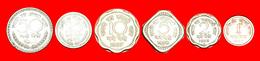 + SET 6 COINS: INDIA ★ 1-2-5-10-25-50 NEW PAISE TYPE 1957-1963! LOW START ★ NO RESERVE! - Münzen & Banknoten