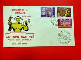 Viet-Nam Du Sud - Premier Jour - Saïgon - 1/11/1967 - N°320/322 - édification De La Démocratie - Vietnam