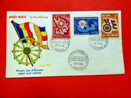 Viet-Nam Du Sud - Premier Jour - Saïgon - 15/5/1965 - N°256/257 - Boudhisme - Viêt-Nam