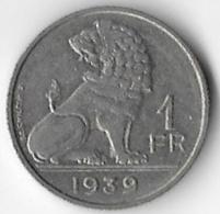 Belgium 1939 1 Franc [C327/1D] - 04. 1 Franc