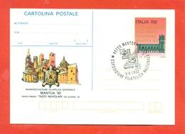 INTERI POSTALI- C 222  - ANNULLO MANTOVA 6/6/1992 - 6. 1946-.. Repubblica