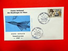 Verneuil Sur Avre - Eure - Arche Espace - 12&13/12/1987 - Marcophilie (Lettres)