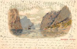 Naeröfjörd - 1899 - Litho Type - Norvège