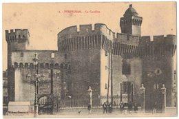 PERPIGNAN : LE CASTILLET - V° CORRESPONDANCE MILITARIA  GUERRE 14/18 ARRIVEE PRISONNIERS ALLEMANDS PUICHERIC VIDAL - Perpignan