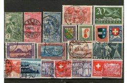 Lot Alte Marken Schweiz - Falz - Gestempelt - Lots & Kiloware (mixtures) - Max. 999 Stamps