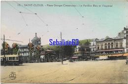 Saint-Cloud - Place Georges Clemenceau - Le Pavillon Bleu Et L'Impérial - Saint Cloud