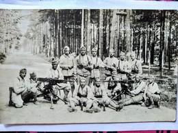 Carte Photo (1922/1927) - Occupation De L'Allemagne - Ludwigswinkel - Militaires Français - Mitrailleuse Hotchkiss - TBE - Guerra 1914-18