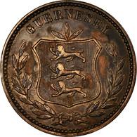 Monnaie, Guernsey, 8 Doubles, 1911, Heaton, Birmingham, TTB, Bronze, KM:7 - Guernesey