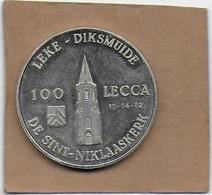 100 LECCA 1982 DIKSMUIDE LEKE DE SINT-NIKLAASKERK - Gemeentepenningen