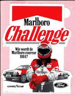 Sticker - Marlboro - Challenge -Wie Wordt De Marlboro Coureur 1984? - Ford - Good T Year - Autocollants