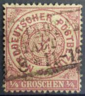 NORDDEUTSCHER POSTBEZIRK 1869 - Canceled - Mi 13 - 0.25gr - Conf. De L' All. Du Nord