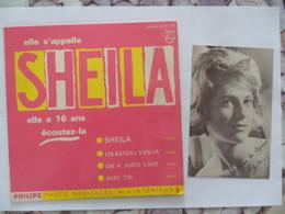 (Musique - Chanteuse, Vinyle 45T.....) -  Elle S'appelle SHEILA  (Philips 432.831 BE), Avec Photo.......voir Scans - 45 Rpm - Maxi-Single