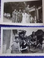 Val Roya - Lot 2 Photos Prises à St Dalmas De Tende :soldats Italiens & Civils - (San Dalmazzo Di Tenda En 1937 ) - Orte