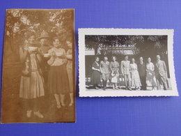 Val Roya - Lot 2 Photos Prises à St Dalmas De Tende :soldats Italiens & Civils - (San Dalmazzo Di Tenda  1934 & ? ) - Plaatsen