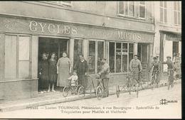 Lucien Tournois, Mécanicien, 6 Rue De Bourgogne -  Spécialités De   Tricyclettess  Pour Mutilés Et Vieillards - Orleans