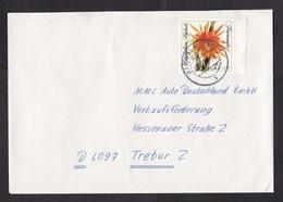 East Germany/DDR/GDR: Cover, 1989, 1 Stamp, Flower (minor Discolouring) - [6] Oost-Duitsland
