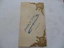 """(Menu Ancien......15 Plats...!!!)  -  Menu Du 17 Novembre 1902  """" Joseph Et Nelly """".........voir Scans - Menus"""