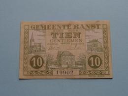 Gemeente RANST > 10 Centiemen ( 19902 ) 1 Maart 1918 Gemeentebestuur Ranst > Antwerpen ( For Grade, Please See Photo ) ! - [ 2] 1831-... : Koninkrijk België