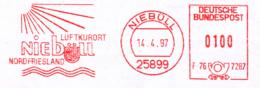 Freistempel 6645 Niebüll Wappen Sonne Wasser - Marcofilie - EMA (Printmachine)