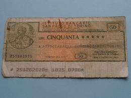 Ass. COMMERCIANTI TORINO : Lire Cinquanta 50 ( 251262820 ) 27-1-1976 ( For Grade, Please See Photo ) ! - Italie