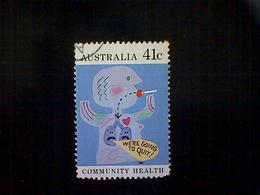 Australia, Scott #1170, Used(o), 1990, Community Health, Quit Smoking, 41c, Multicolored - 1990-99 Elizabeth II