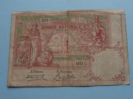 TWINTIG FRANKEN - 20 ( Type 1894 / 3653 C - 284 ) 91302284 - 6 Juil '20 ( For Grade, Please See Photo ) Morin 21 C ! - [ 2] 1831-... : Koninkrijk België