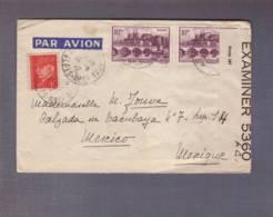 Lettre Par Avion Aff 2x10f Angers 1f Pétain Obl. 15.05.1942 ->Mexico - Zensur/censored/censure OBE 5360 I.C. = Bermudes - Postmark Collection (Covers)
