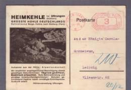 Grotte - Höhle - Cave - Carte à Vue - Heimkehle Bei Uftrungen Südharz  Obl. Halle 08.06.1932 - Ansichtskarten