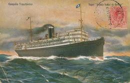 "Vapor "" Infanta Isabel De Borbon "" Compania Transatlantica Paquebot  Desde Tenerife - Spanien"