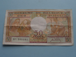 50 FRANK ( Type 1948 Buisseret - B01 205161 ) 01-06-48 ( For Grade, Please See Photo ) Morin 45a ! - [ 2] 1831-... : Royaume De Belgique