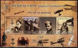 INDIA 2019 Indian In 1st World War WW1 Miniature, MNH MS , Air Warriors, Aeroplane (**) Inde Indien - Nuovi