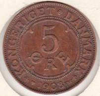 Denmark. 5 ORE 1908. Frederik VIII. KM# 806 - Dänemark