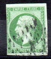 FRANCE - YT N° 12 - Cote: 95,00 € - 1853-1860 Napoleon III