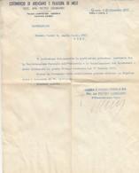 9490-CARTA INTESTATA PUBBLICITARIA COTONIFICIO DI ARENZANO E FILATURA DI MELE(GE) - Pubblicitari