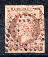 FRANCE - YT N° 16 - Cote: 22,00 € - Orange Brun - 1853-1860 Napoleone III