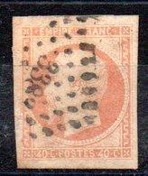 FRANCE - YT N° 16 - Cote: 22,00 € - Orange Pâle - 1853-1860 Napoleone III