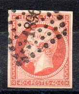 FRANCE - YT N° 16a - Cote: 28,00 € - Orange Vif - 1853-1860 Napoleone III