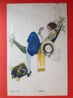 DAME IN HANGMAT - BRESIL - Ed GELDUM PARIS - FEMME DANS UN HAMAC - Illustrateurs & Photographes