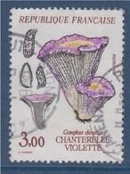 = Flore Et Faune De France, Champignon Chanterelle Violette, 3f00 N°2489 Oblitéré - France