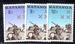 APR1905 - KATANGA 1962 , Serie Yvert N. 79/81  ***  MNH    (2380A) - Katanga