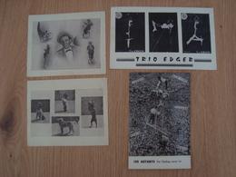 LOT DE 4 PHOTOS REPRODUCTION CIRQUE TRIO EDGER LES ASTARYS - Reproductions