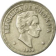 Monnaie, Colombie, 20 Centavos, 1959, TTB, Copper-nickel, KM:215.1 - Kolumbien