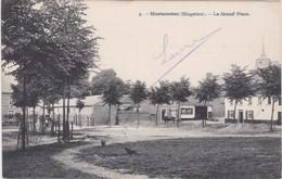 MONTENAEKEN-GINGELOM-LA GRAND'PLACE-VERZONDEN KAART NAAR HAINE-ST-PIERRE-1906-IN PERFEKTE STAAT ZIE DE BEIDE SCANS-TOP ! - Gingelom