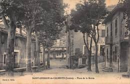 CPA SAINT-GERMAIN-de-CALBERTE ( Lozère ) - Place De La Mairie - France