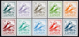 Great Britain - Lundy Island - 2002 - Birds - Puffins - Mint Definitive Stamp Set - Ortsausgaben
