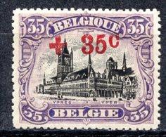 BE   157    X   ---   Première Très Faible Charnière  --  Excellent Centrage - 1918 Rotes Kreuz