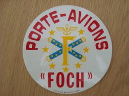 AUTOCOLLANT PORTE-AVION FOCH - Autocollants
