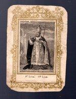 Image Pieuse Saint Léon (état Mediocre) - Religion & Esotérisme