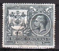 British Honduras 1922 Single 4c Stamp From The George V Set. - Brits-Honduras (...-1970)